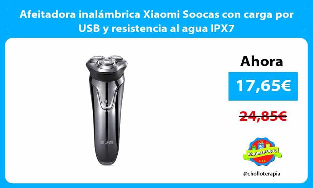 Afeitadora inalámbrica Xiaomi Soocas con carga por USB y resistencia al agua IPX7