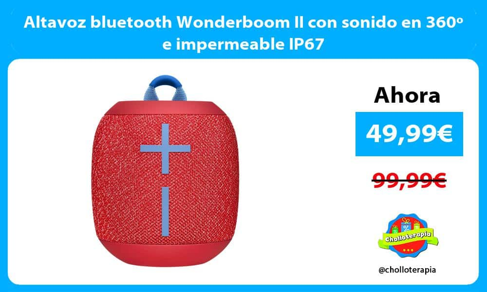 Altavoz bluetooth Wonderboom II con sonido en 360º e impermeable IP67