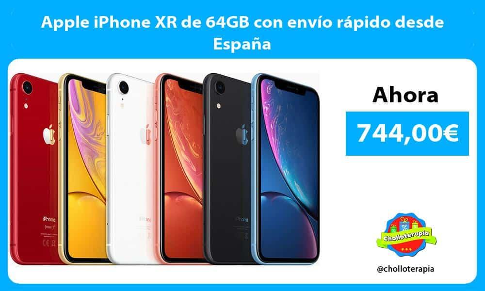 Apple iPhone XR de 64GB con envío rápido desde España