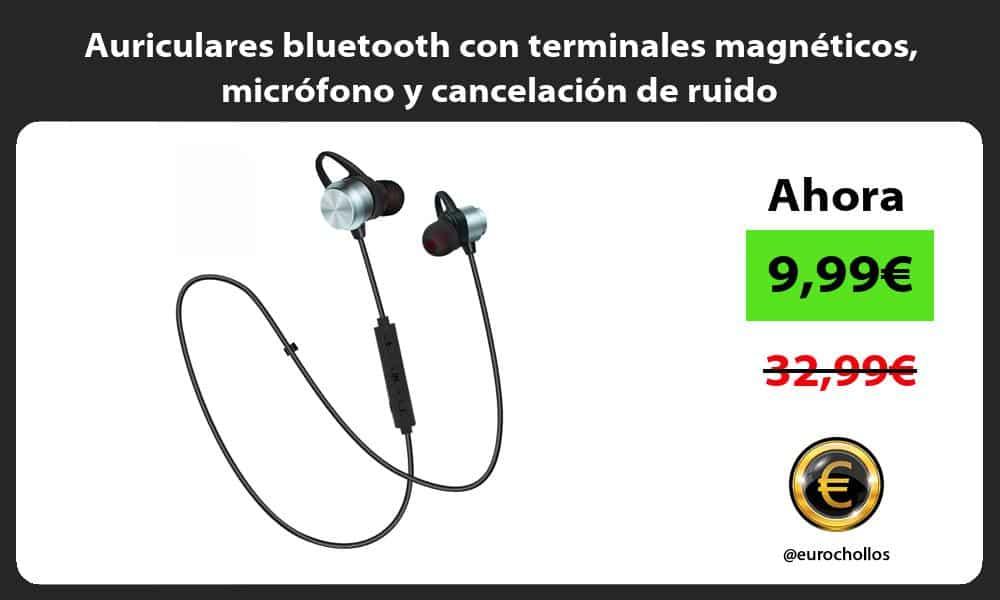 Auriculares bluetooth con terminales magnéticos micrófono y cancelación de ruido
