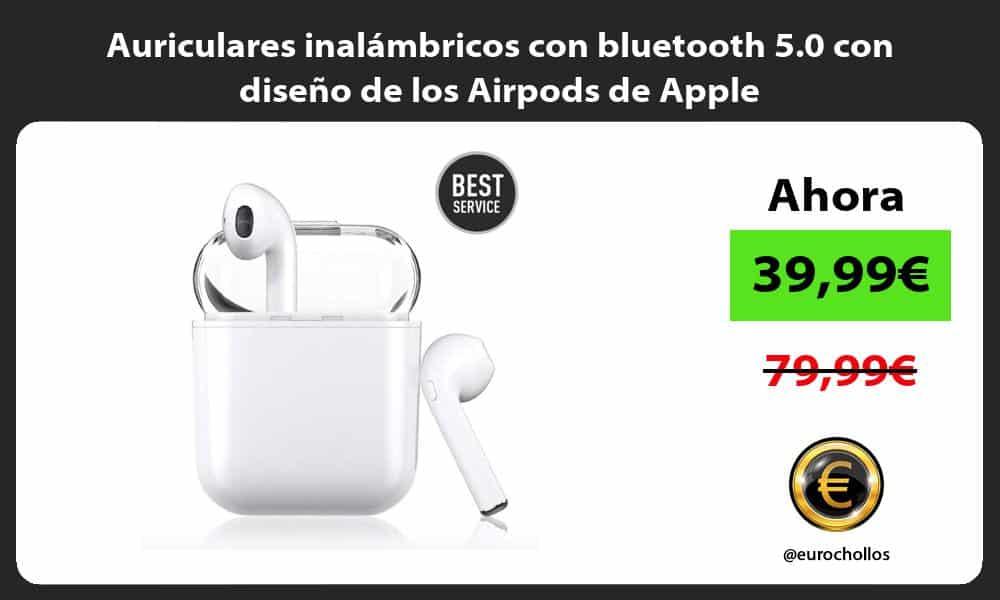 Auriculares inalámbricos con bluetooth 5.0 con diseño de los Airpods de Apple