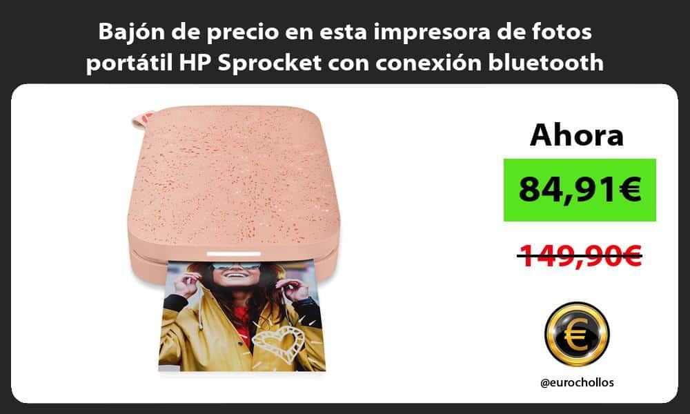 Bajón de precio en esta impresora de fotos portátil HP Sprocket con conexión bluetooth