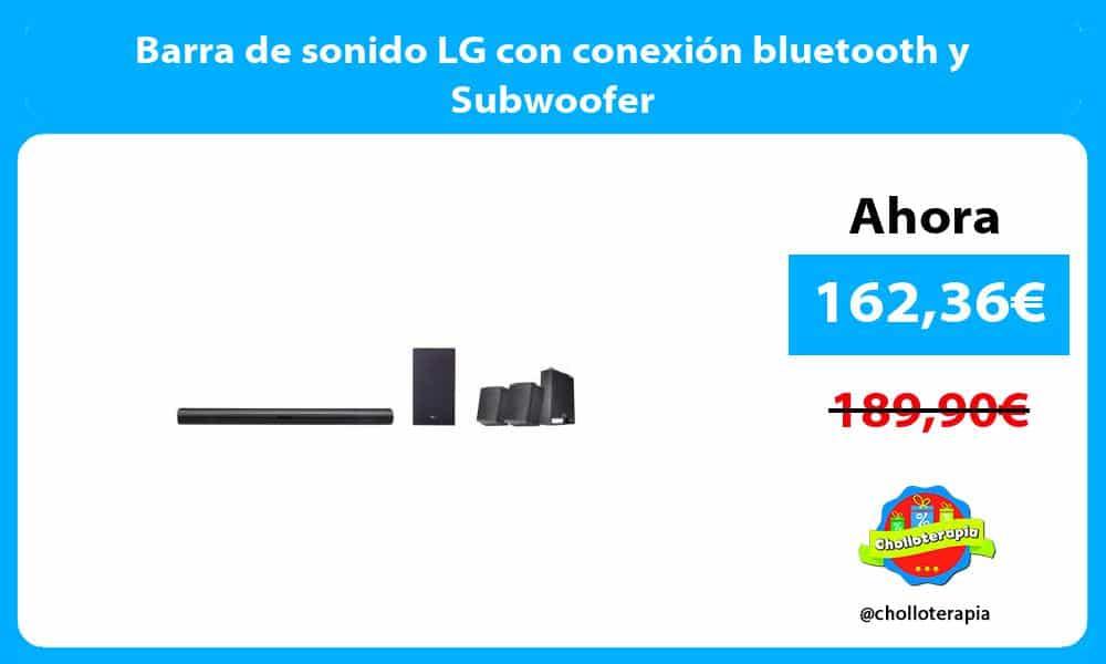 Barra de sonido LG con conexión bluetooth y Subwoofer