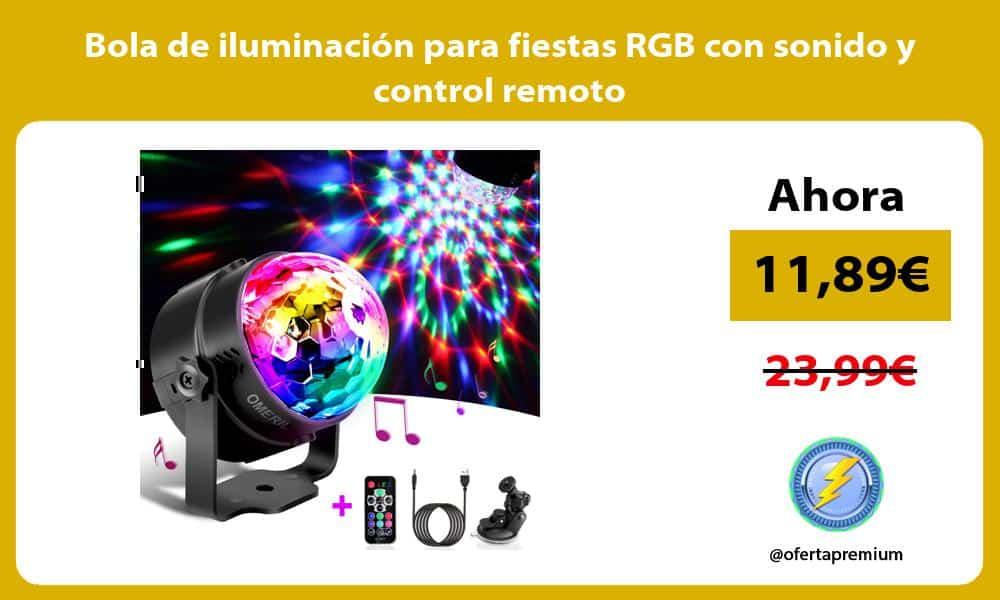 Bola de iluminación para fiestas RGB con sonido y control remoto