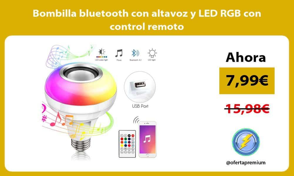 Bombilla bluetooth con altavoz y LED RGB con control remoto