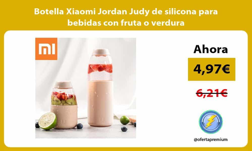 Botella Xiaomi Jordan Judy de silicona para bebidas con fruta o verdura