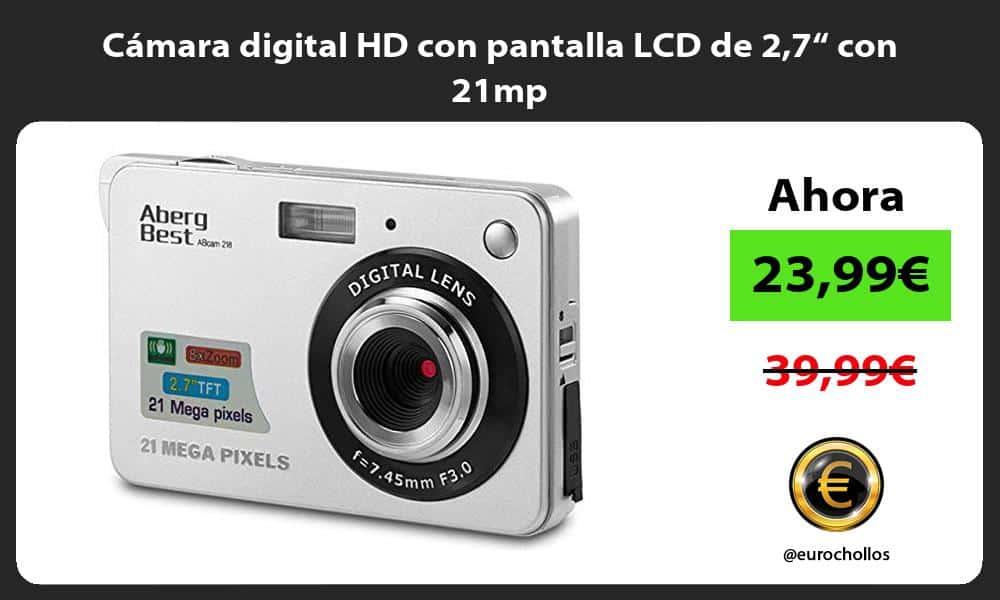 "Cámara digital HD con pantalla LCD de 27"" con 21mp"