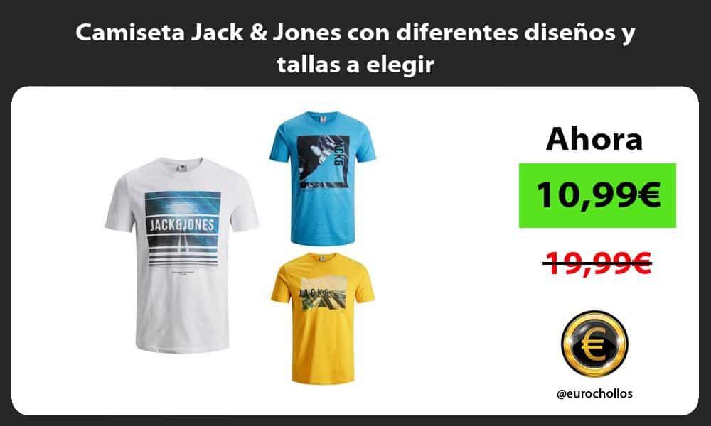 Camiseta Jack Jones con diferentes diseños y tallas a elegir