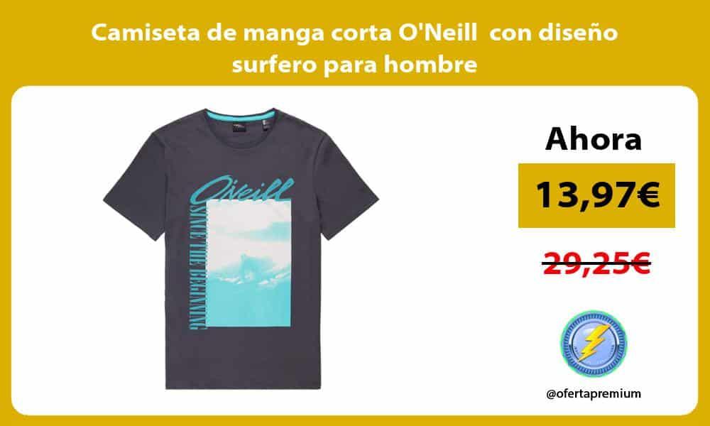Camiseta de manga corta ONeill con diseño surfero para hombre