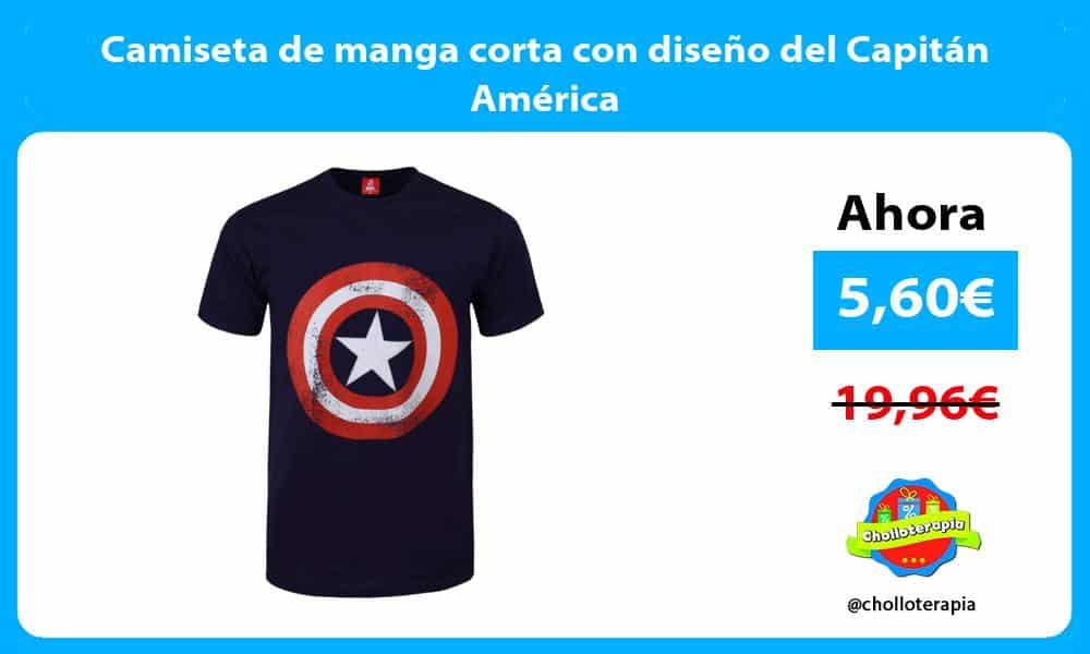 Camiseta de manga corta con diseño del Capitán América