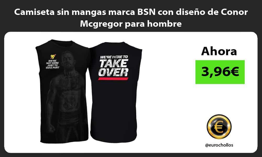 Camiseta sin mangas marca BSN con diseño de Conor Mcgregor para hombre
