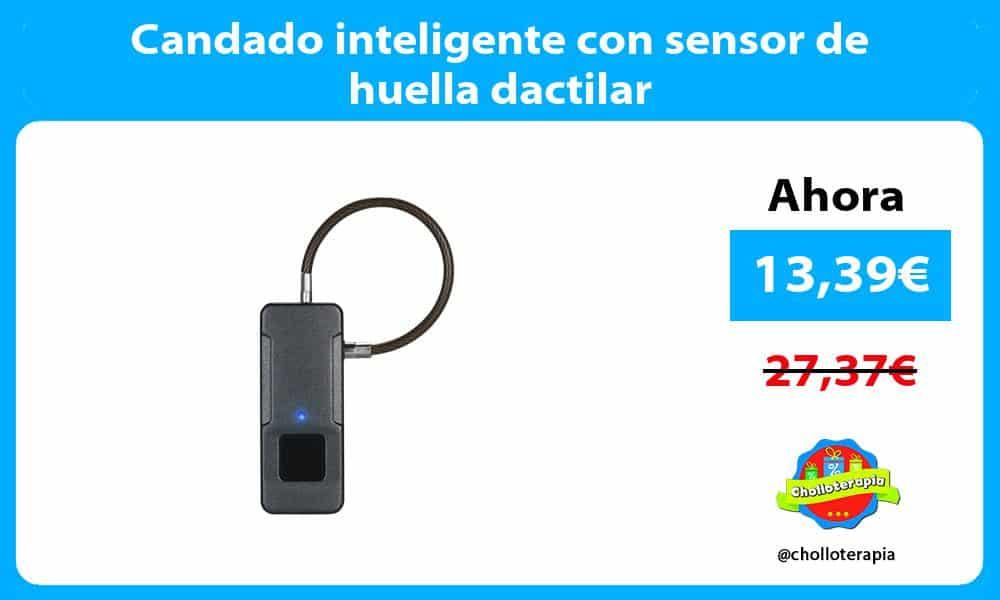 Candado inteligente con sensor de huella dactilar