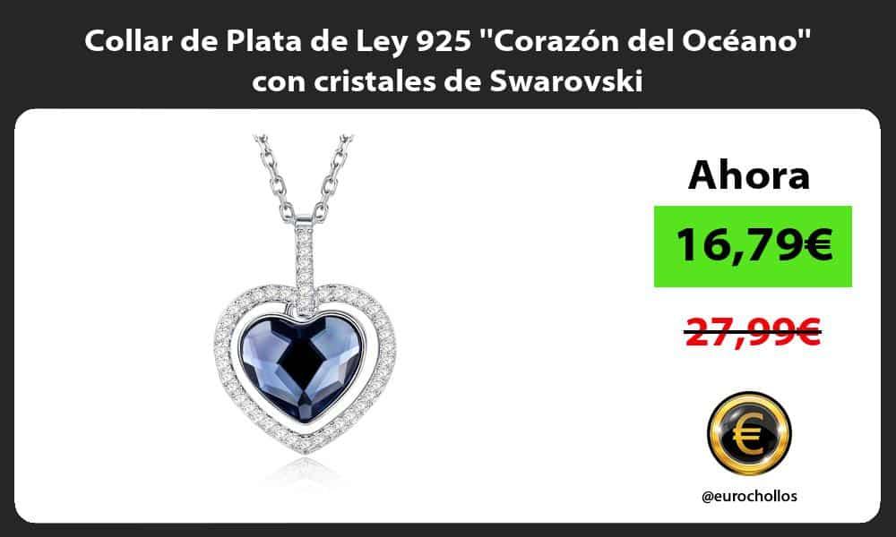 Collar de Plata de Ley 925 Corazón del Océano con cristales de Swarovski