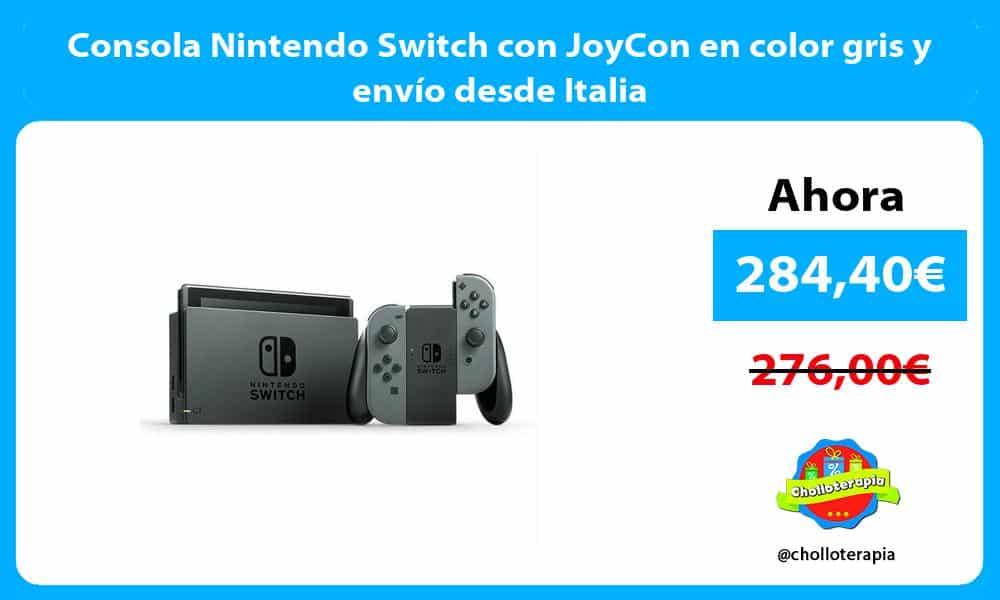 Consola Nintendo Switch con JoyCon en color gris y envío desde Italia