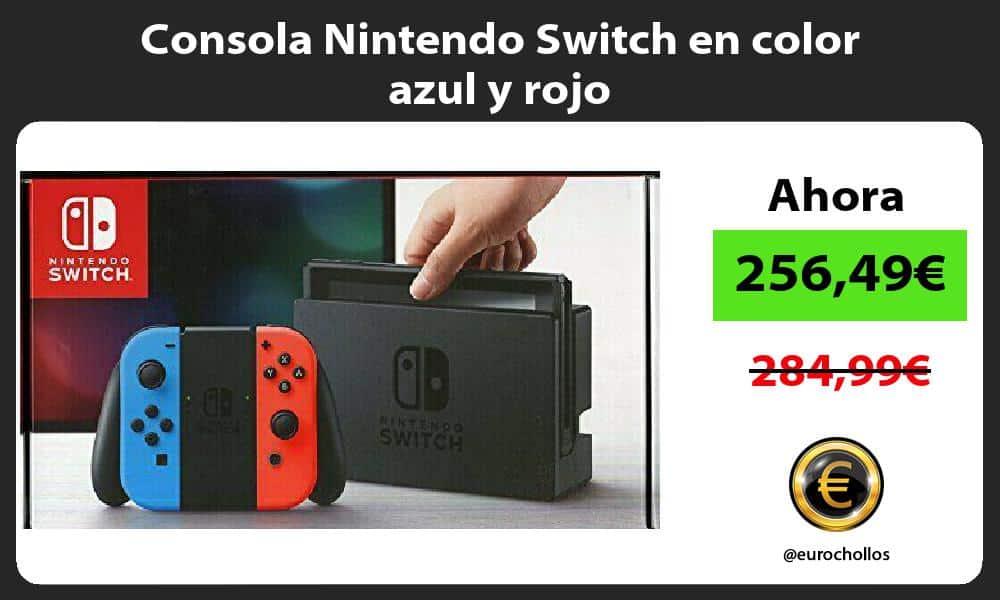 Consola Nintendo Switch en color azul y rojo