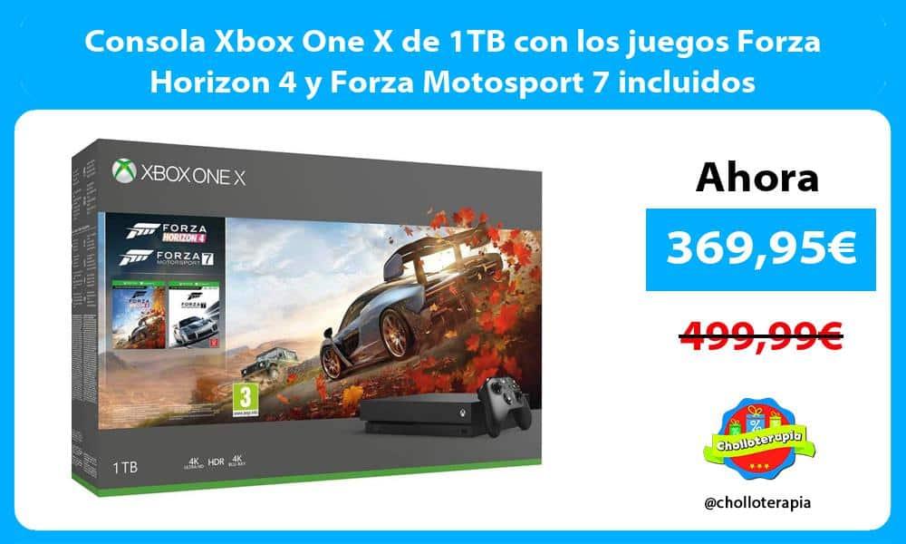 Consola Xbox One X de 1TB con los juegos Forza Horizon 4 y Forza Motosport 7 incluidos