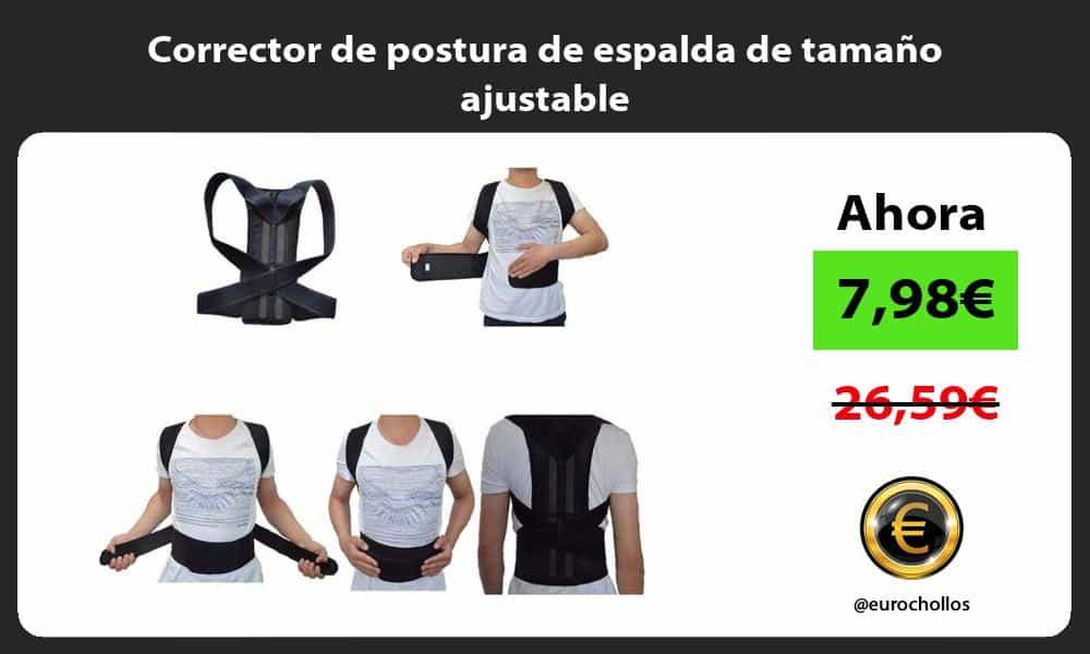 Corrector de postura de espalda de tamaño ajustable