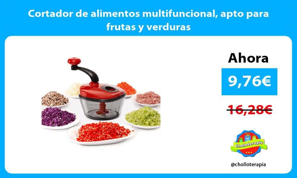 Cortador de alimentos multifuncional apto para frutas y verduras
