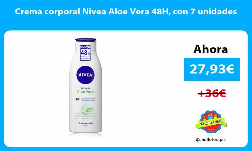 Crema corporal Nivea Aloe Vera 48H con 7 unidades