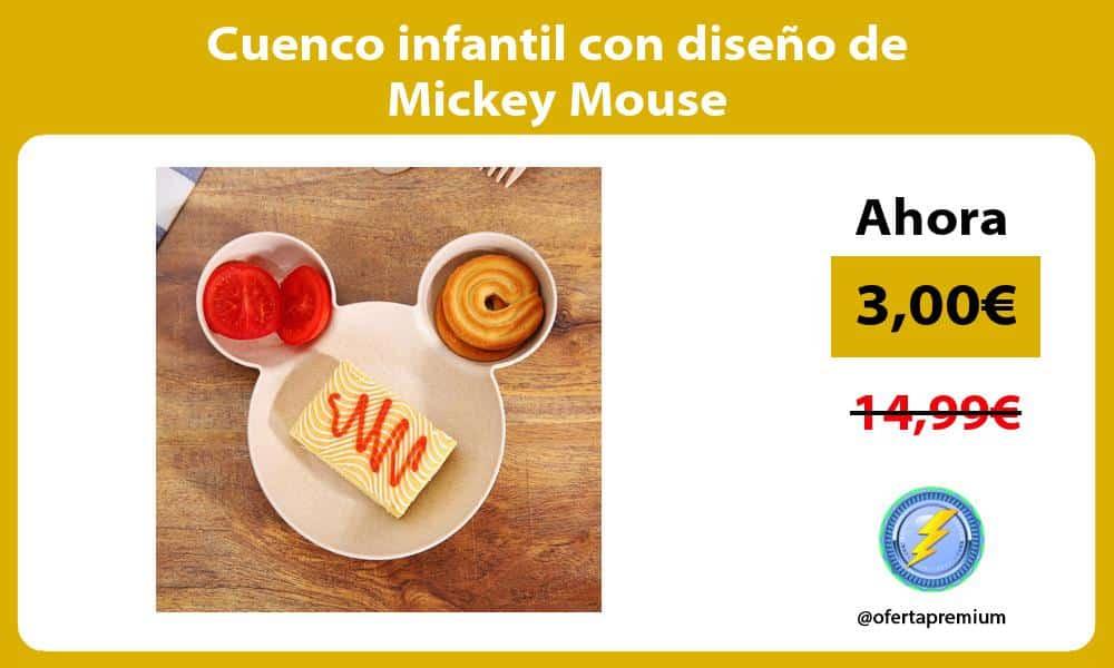 Cuenco infantil con diseño de Mickey Mouse