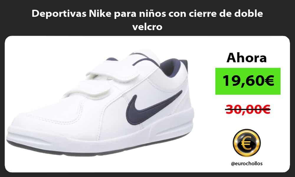 Deportivas Nike para niños con cierre de doble velcro