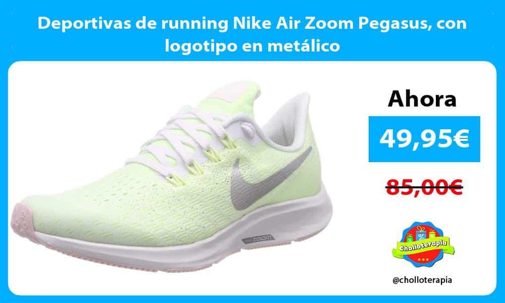 Deportivas de running Nike Air Zoom Pegasus con logotipo en metálico