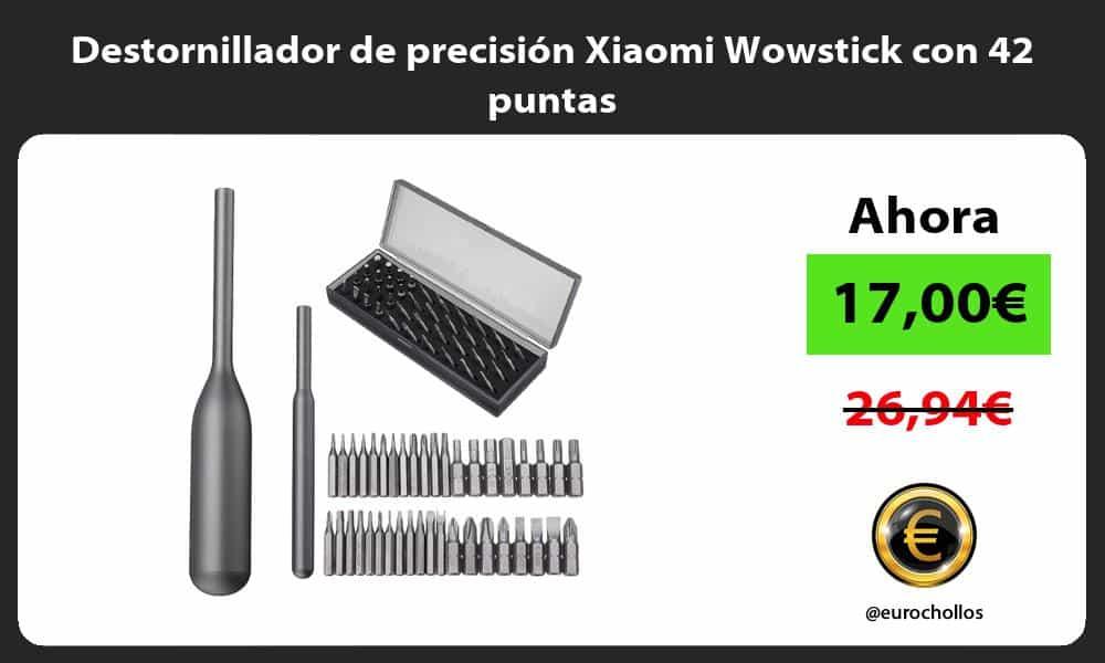 Destornillador de precisión Xiaomi Wowstick con 42 puntas