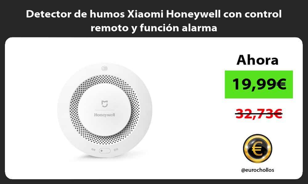 Detector de humos Xiaomi Honeywell con control remoto y función alarma