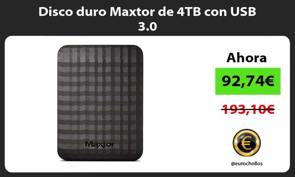 Disco duro Maxtor de 4TB con USB 3.0