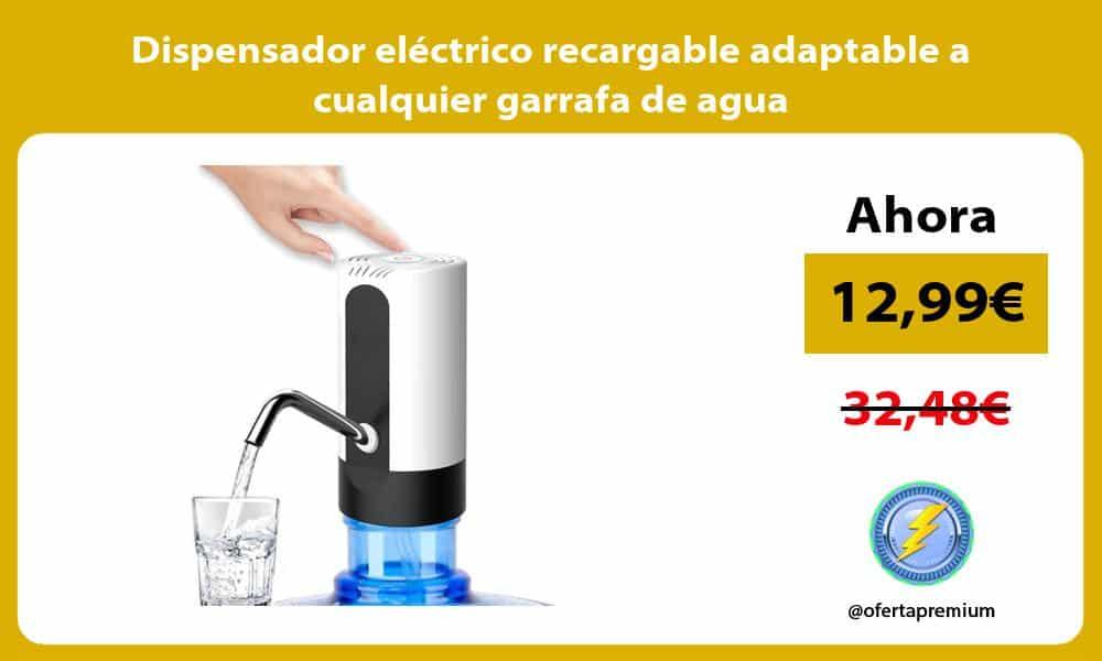 Dispensador eléctrico recargable adaptable a cualquier garrafa de agua