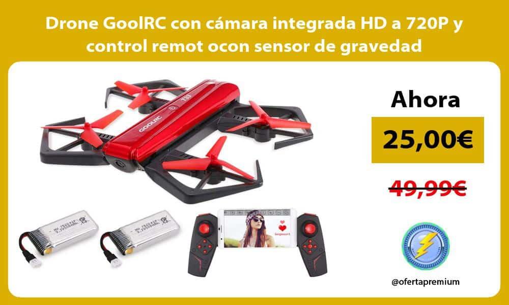 Drone GoolRC con cámara integrada HD a 720P y control remot ocon sensor de gravedad