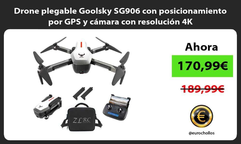 Drone plegable Goolsky SG906 con posicionamiento por GPS y cámara con resolución 4K