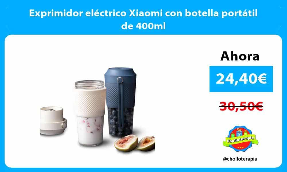 Exprimidor eléctrico Xiaomi con botella portátil de 400ml
