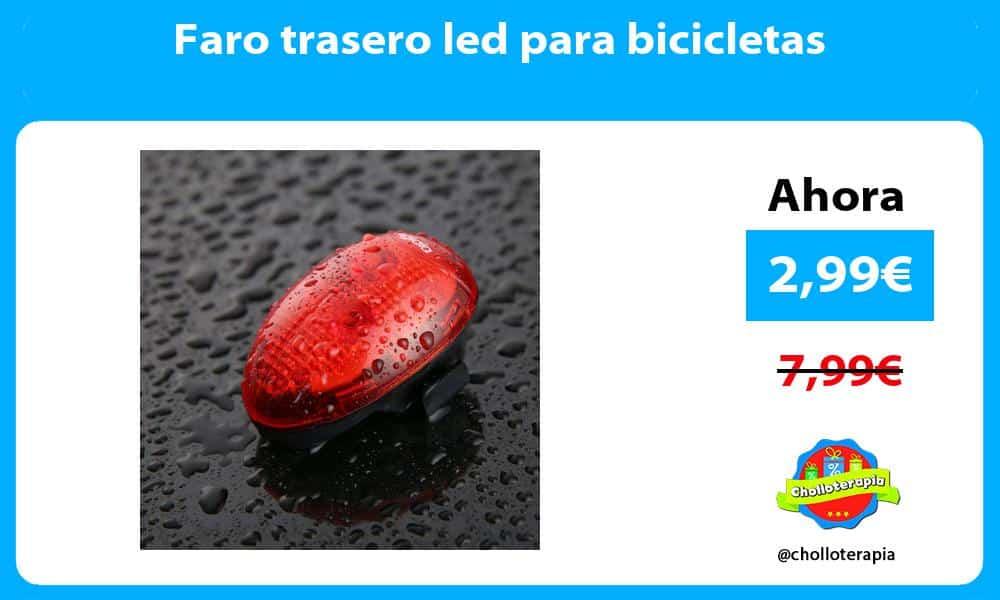 Faro trasero led para bicicletas