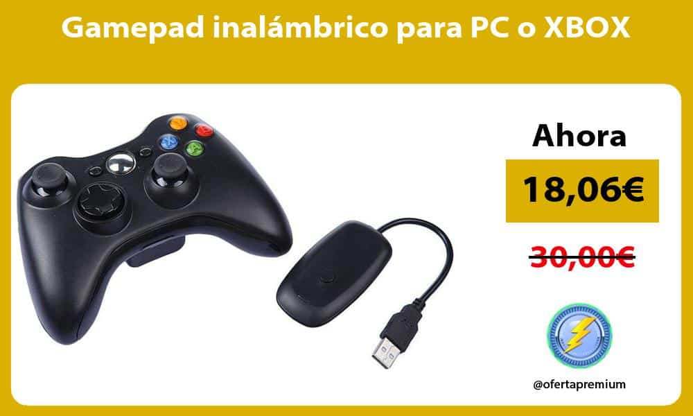 Gamepad inalámbrico para PC o XBOX