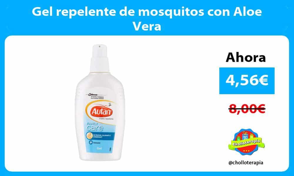 Gel repelente de mosquitos con Aloe Vera