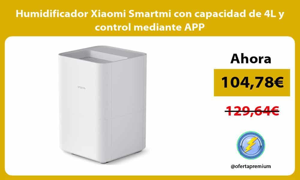 Humidificador Xiaomi Smartmi con capacidad de 4L y control mediante APP