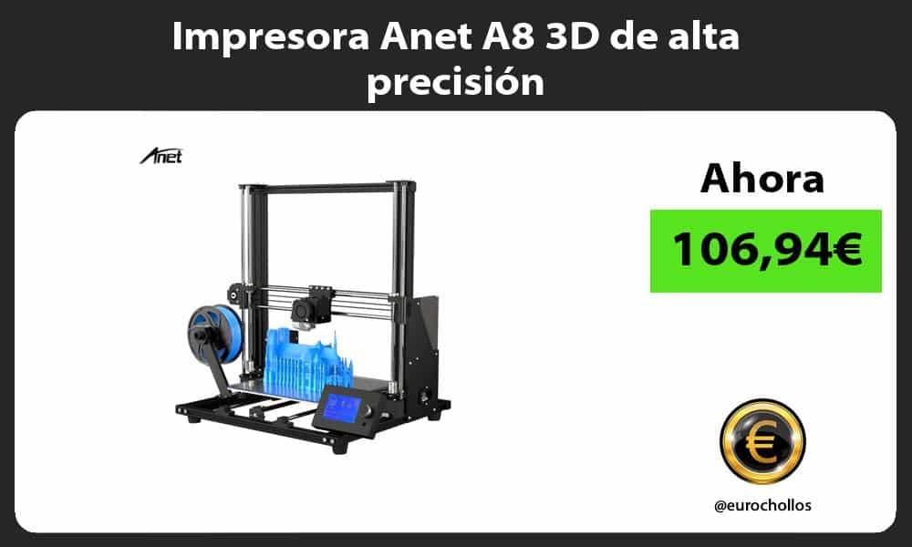 Impresora Anet A8 3D de alta precisión