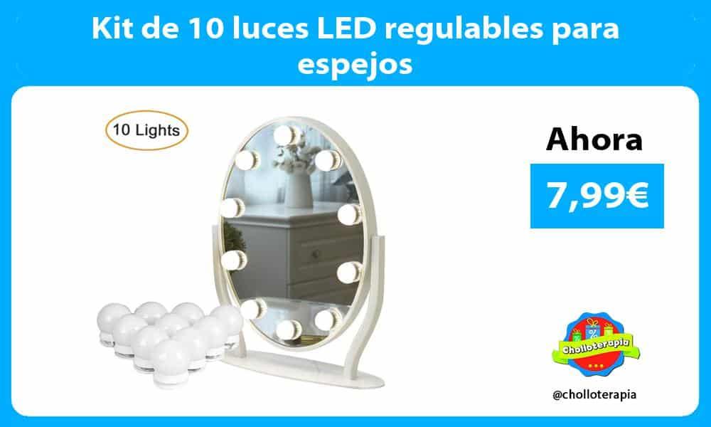 Kit de 10 luces LED regulables para espejos