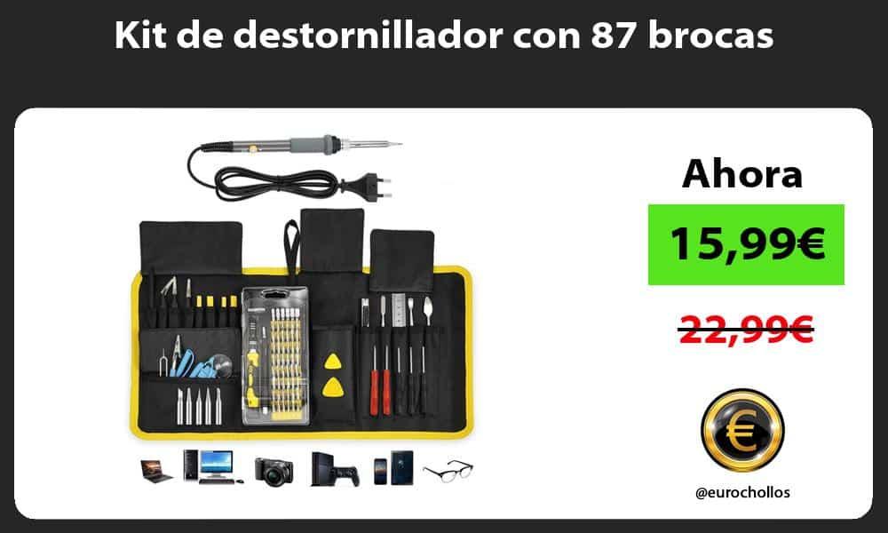 Kit de destornillador con 87 brocas