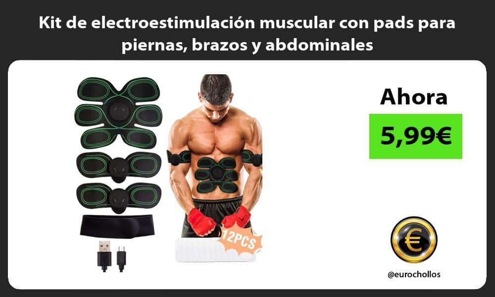 Kit de electroestimulación muscular con pads para piernas brazos y abdominales