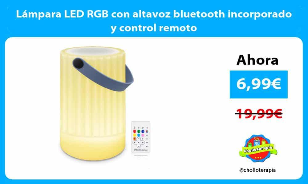 Lámpara LED RGB con altavoz bluetooth incorporado y control remoto