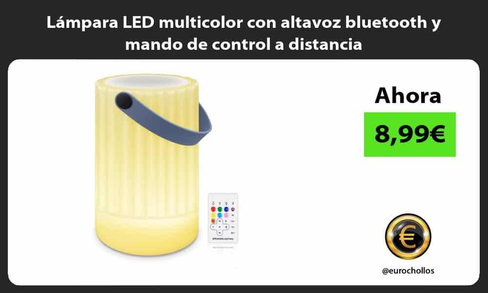 Lámpara LED multicolor con altavoz bluetooth y mando de control a distancia