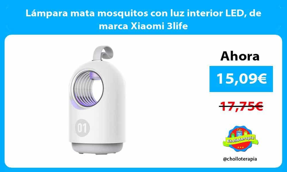 Lámpara mata mosquitos con luz interior LED de marca Xiaomi 3life