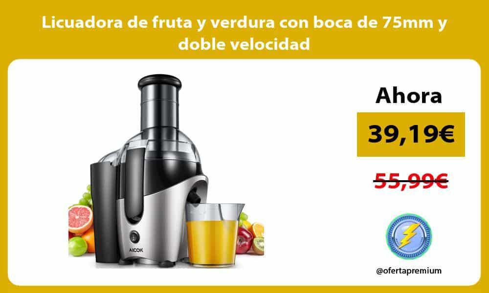 Licuadora de fruta y verdura con boca de 75mm y doble velocidad