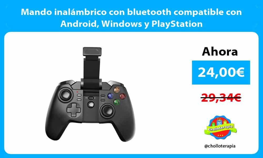 Mando inalámbrico con bluetooth compatible con Android Windows y PlayStation