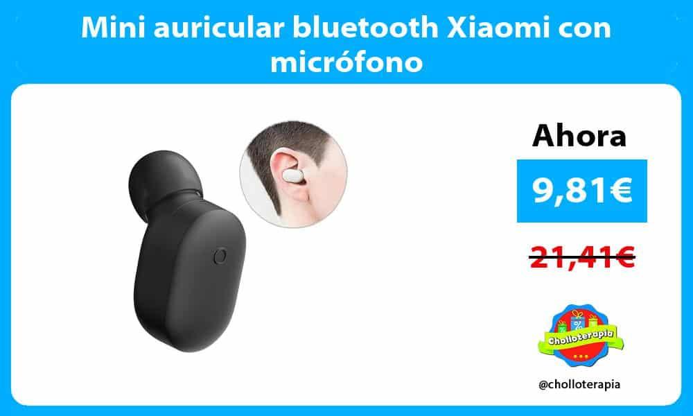 Mini auricular bluetooth Xiaomi con micrófono