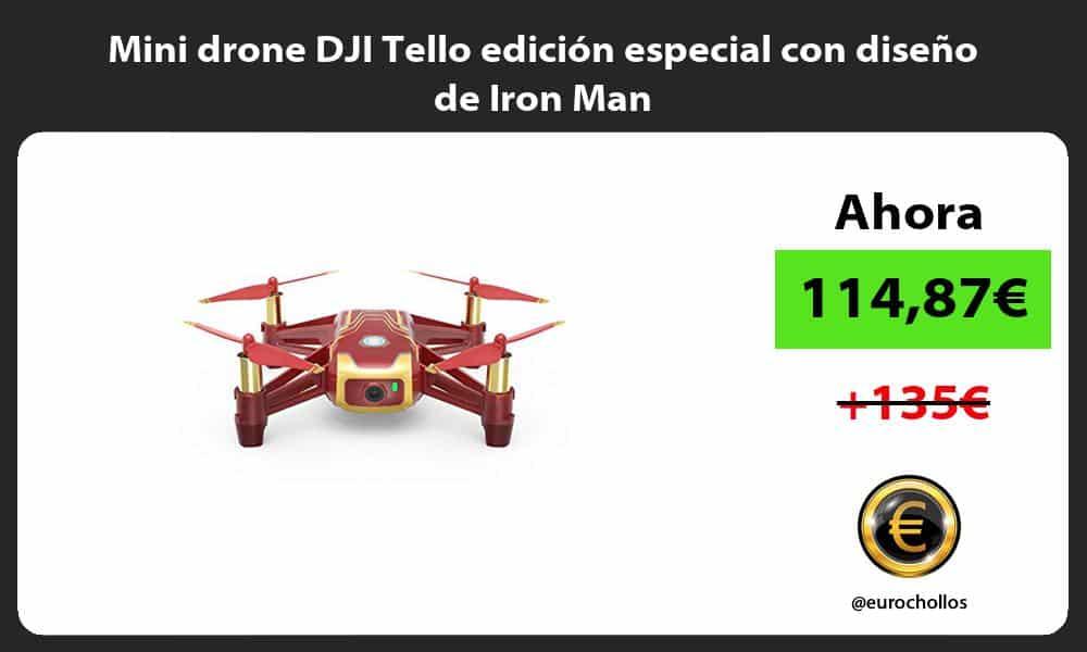 Mini drone DJI Tello edición especial con diseño de Iron Man