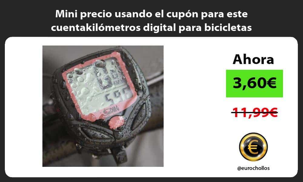 Mini precio usando el cupón para este cuentakilómetros digital para bicicletas