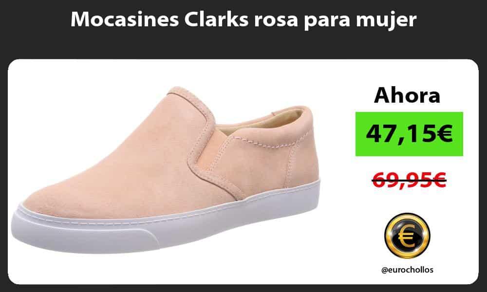 Mocasines Clarks rosa para mujer